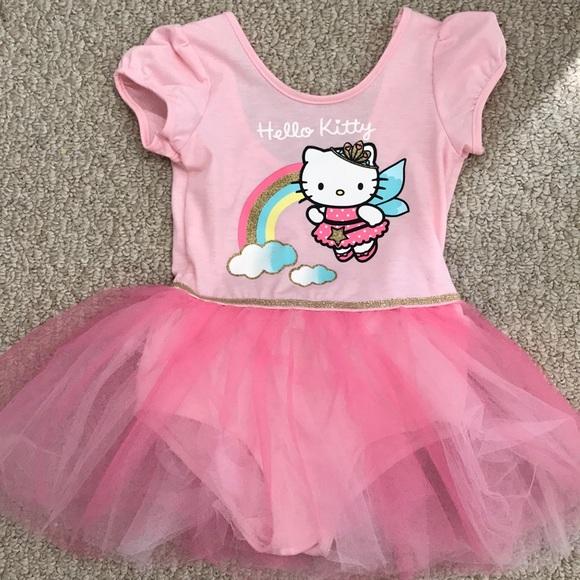 466e812f23684 H&M Dresses | Gently Worn H M Ballerina Hello Kitty Tutu Dress ...